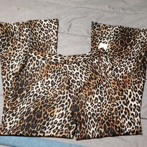 Leopard print dress pants